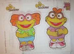 Fabric Panels Jim Henson Muppet Babies for Stuffed Dolls Vintage 1985