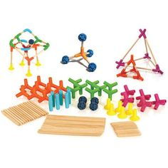 Colorful Joinks Construction Set is awesome for little builders and engineers in the making.  Great for a STEM activity or just for kids to play with.