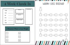 Looking to track your weight loss? These planner pages are perfect for you! The pages include a weekly food, water, and exercise tracker with a place to write down goals and rewards. It also includes a starting and ending measurements page and a 4-week check in page to help keep you on track with your goals! This planner provides you with the tools needed to help you track your healthy lifestyle choices. The colorful pages and inspirational quotes on the weekly pages will help motivate and…