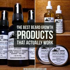 Do you have trouble growing a thick, full beard? Learn about the best beard care products for growth including growth oil and spray. Best Beard Growth Oil, Best Beard Oil, Beard Growing Tips, Best Beard Care Products, Beard Growth Products, Beard Company, Beard Tips, Beard Look, Beard Grooming