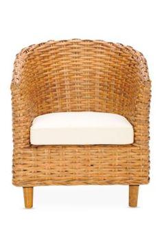 Safavieh  Omni Rattan Barrel Chair - Honey - 26 In.