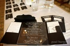 Luxury Acrylic Invitation Package by RoyalPanache on Etsy