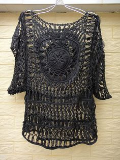 Black Lace Tunics Women Crochet Blouse Top Sheer Summer Cover Up Ideal for layering and creating a hippie, indie/ boho chic look, go perfectly with dress, vest, shirt or even jeans