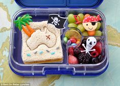 Like A Pirate Day Treasure Lunch! Today be International Talk Like A Pirate Day! Tis one o me favourite days t fix. Today be International Talk Like A Pirate Day! Tis one o me favourite days t fix. Cute Snacks, Lunch Snacks, Cute Food, Lunch Box, Kids Packed Lunch, Kids Lunch For School, School Lunches, Work Lunches, Bento Recipes