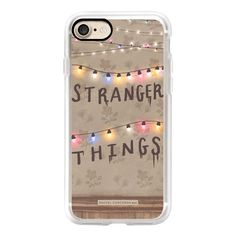 Stranger Things Illustration by Rachel Corcoran - Rachillustrates -... (705 ARS) ❤ liked on Polyvore featuring accessories, tech accessories, phone, phone cases, cases, christmas, iphone case, iphone cases, iphone cover case and 80s retro iphone case