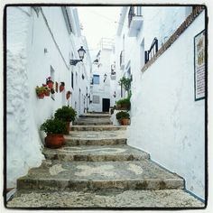 Travelling in Axarquia. Frigiliana. Andalusia.