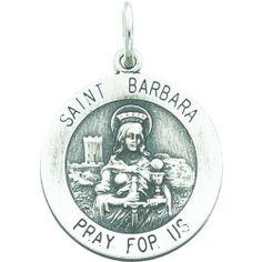 Sterling Silver Saint Barbara Round Medal FindingKing. $29.99