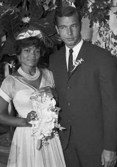 Eartha Kitt and her only husband John William McDonald *I woulda thought she'd have married more times but nope, she was happy with having scads of lovers.Ugh! She was so fabulous.*
