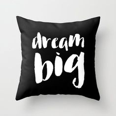Throw Pillow Cover Modern Home Decor Teen Room Black White Gift Typography Pillow 18x18 Handwriting Decorative Pillows Quirky Word Covers