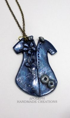 my little clay dress! Handmade Necklaces, Clay, Pendants, Pendant Necklace, Dress, Jewelry, Fashion, Clays, Moda