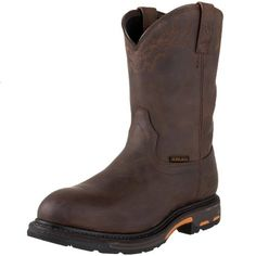 Ariat Men's Workhog Pull-on Waterproof Pro Work Boot, Oily Distressed Brown, 13 US Men's Shoes, Shoe Boots, Composite Toe Work Boots, Pull On Boots, Goodyear Welt, Waterproof Boots, Western Boots, Cowboy Boots, Fashion Boots