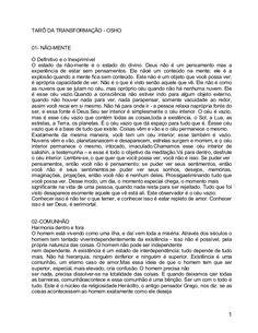 TARÔ DA TRANSFORMAÇÃO - OSHO