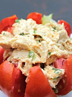 Southwest Chicken Salad Ingredients •3 cups cooked and shredded chicken (about 3 chicken breasts) •1 lime, juiced •2 green onions, sliced, both green and white parts •¼ cup fresh cilantro, chopped •½ teaspoon chili powder •¼ teaspoon cumin powder •¼ teaspoon garlic powder •salt and pepper, to taste •2-4 tablespoons mayonnaise •For serving: tomatoes, avocados or lettuce