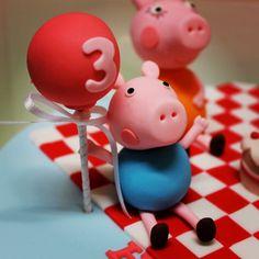 Peppa Pig Car, Peppa Big, George Pig, Frozen Birthday, 3rd Birthday, Cake Accessories, Fondant Animals, Big Cakes, Pig Party