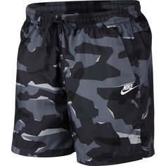 Men's Nike Sportswear Camo Woven Shorts, Size: Large, Grey