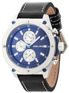Police Armbanduhr P14537JS-03A Contact Lederband schwarz