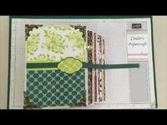 Part 3 Stampin Up Mini Album Fresh Florals Stunning! UK Demo Gift Idea - YouTube