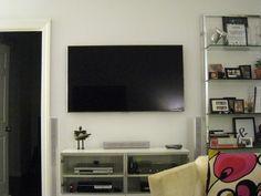 Installing a flat screen wall mount with PowerBridge.