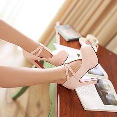 Chunky Heel Platform Pumps Shoes