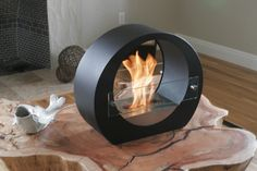 Round Tabletop Fireplace - Clean Bio Ethanol Burning