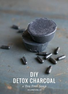 Basic DIY Detox Charcoal and Tea Tree Melt and Pour Soap Recipe. Also try this truly amazing but a snap to make homemade melt and pour activated charcoal soap recipe with sea buckthorn oil and added essential oils here: soapdelinews.com/...