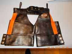 BUILD A BEAR DOLL GENUINE HARLEY DAVIDSON LEATHER CHAPS #BuildaBear
