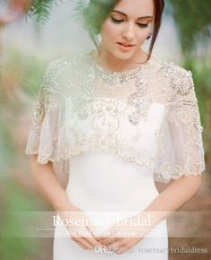 Gold Embroidery Lace Crystal Boleros Elegant Beautiful Cheap Wedding Lace Jackets Hand Beads Wraps 2016 Custom Made Fast Shipping From Rosemarybridaldress, $35.18 | Dhgate.Com