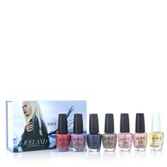 233423 - OPI 7 Piece Iceland Nail Collection with Box QVC Price: £42.00  Feature Price: £32.76 + P&P: £4.95 in 2 options  This seven-piece Summer Nail Collection from OPI includes two bestselling Nail Envy formulations, as well as the brand new ProSpa Nail and Cuticle Oil and four classic shades from OPI's Destination Collections that you know and love.