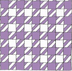 "Houndstooth Quilt Tutorial - uses 5.5"" strips instead of 3 3/8 - much easier to measure than pattern I bought"
