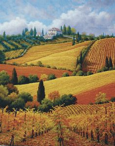"""Tuscan Colors"" / Artist: Charles White Where the air smells like roasted garlic, juicy olives, and fresh pastry..."