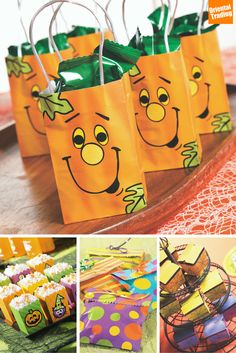 """Be the Ghostess with the Mostest this Halloween with these positively """"defrightful"""" goodie bags. Pick a theme or mix and match using Oriental Trading's party supplies – your guests will love the contents just as much as the packaging."""