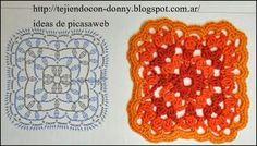 PATRONES - CROCHET - GANCHILLO - GRAFICOS: GRANNY TEJIDOS A GANCHILLO