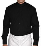 Full button down black Nehru collar cotton shirt with one breast pocket. Rs. 2025 Buy Now http://paridhan.co.in/products/fullpage/11604/long-sleeve-black-cotton-nehru-collar-shirt