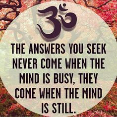 And you still the mind with #yoga and #meditation!