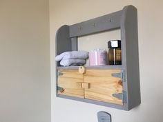 Rustic Bathroom / entrance caddy and shelf by Woodblends on Etsy