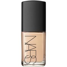 Nars Sheer Glow Foundation in Deauville (£31) ❤ liked on Polyvore featuring beauty products, makeup, face makeup, foundation, beauty, nail polish, accessories, dry skin foundation, moisturizing foundation and nars cosmetics