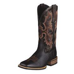 Ariat Men's Black Tombstone Square Toe Boot