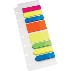 "Staples® Arc System Page Flags, Assorted Colors, 2-1/2"" x 7-1/2"" 