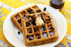 Blueberry Oat Waffles | vegan and gluten-free | Recipe Renovator