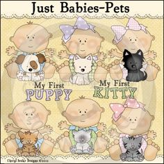 Just Babies Pets 1 - Whimsical Clip Art by Cheryl Seslar