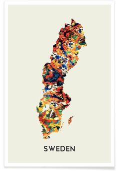 Sweden als Premium Poster von In Full Color | JUNIQE