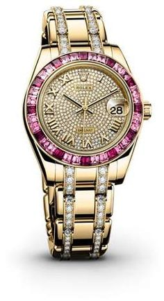 a01262eee7b Rolex Datejust Pearlmaster Diamond Pave Dial 18kt Yellow Gold Ladies Watch #affiliatelink