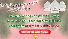 """You will want to enter our """"Happy Christmas Giveaway to win one of 10 each 100%-off discount codes to Aickar Ultrasonic Diffuser: http://wellnessappliances.com/happy-christmas-giveaway/. You pay shipping costs."""