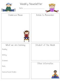 free april newsletter template - templates for newsletters each week different students