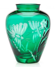 Take a look at this Green Butterfly Vase today!