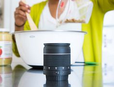 might look like a lens, but it's a kitchen timer!!! :-D
