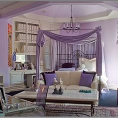 Lavender bedroom for teen princess by Tracy Murdock Allied