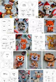 Toys made of felt. Schemes and patterns of felt . - Toys made of felt. Schemes and patterns of felt …, # patterns # toys - Sewing Toys, Sewing Crafts, Sewing Projects, Felt Animal Patterns, Stuffed Animal Patterns, Felt Patterns Free, Felt Crafts Diy, Felt Diy, Felt Decorations