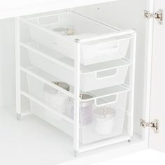 Small Bathroom Storage Under Sink - Small Bathroom Storage Bathroom Cabinet Organization, Sink Organizer, Bathroom Cabinets, Storage Cabinets, Kitchen Storage, Storage Spaces, Storage Organizers, Bathroom Vanities, Storage Drawers