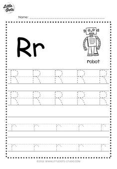 Free Letter R Tracing Worksheets Grade R Worksheets, Printable Alphabet Worksheets, Letter Worksheets For Preschool, Preschool Letters, Kindergarten Worksheets, Phonics Worksheets, Italian Language, Korean Language, Japanese Language